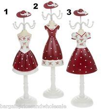Vintage Elysee Chica Flapper Rojo Spot joyas Percha Glamour Ornamento Home