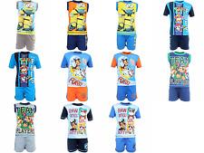 New licensed character boys Disney Paw Patrol  Minions summer set cotton bnwt