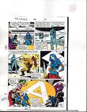 1988 Buscema Avengers 296 Marvel Comics color guide art page 16:Thor/She-Hulk