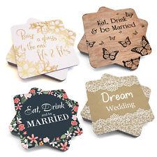 Wedding Drinks/Beer Mat. Wedding favours, accessories, Bridal designs