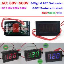 Digital LED Display AC Voltmeter Voltage Guage Meter Panel AC 30V-500V 110V 220V