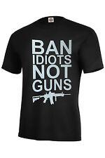 BAN IDIOTS NOT GUNS T-SHIRT GUNS SUPPORTERS ASSORTED COLORS BEST SELLER S-5XL