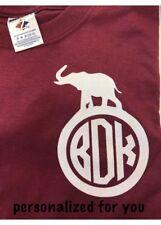 Alabama monogram shirt Crimson Tide Elephant Shirt personalized