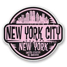 2 x New York City America USA Vinyl Sticker Laptop Travel Luggage Car #6064