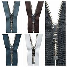 Premium YKK Metal Trouser Zipper Zips Semi- Auto Lock Slider Heavy Metal Teeth