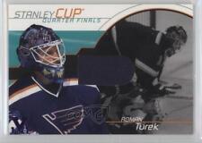 2001 In the Game Be A Player Memorabilia #SC-15 Roman Turek St. Louis Blues Card