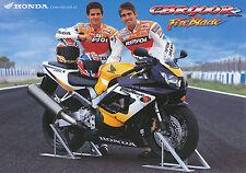 Honda CBR 900 rr Fire Blade prospectus D + GB + F + I 9/99 Brochure Brochure 1999 moto