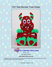 Red Monster Treat Holder- Plastic Canvas Pattern or Kit