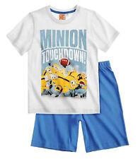 Minions 136843 - Kurzer Schlafanzug / Shorty in Weiss/Blau **NEU & OVP**