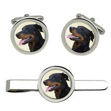 Beauceron Dog Cufflinks and Tie Clip Set