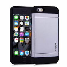GRAY iPhone Samsung Slide Wallet Case Credit Card Hidden Pocket ID CS + GLASS
