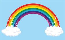 Rainbow Wall Art vinyl sticker, full colour decal transfer