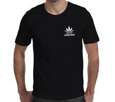 Addicted Cannabis Unisex Maglietta Divertente Marijuana Fumo Erbaccia tutti i giorni ganja erba