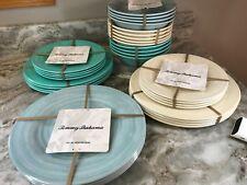 Tommy Bahama Swirl Melamine Plates Or Pasta Bowls. Set Of 4. You Choose. New.