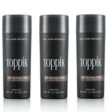 3 x TOPPIK 27,5 g. Haarverdichter Streuhaar Schütthaar Hair Fibers Microhairs
