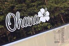 Ohana Hibiscus Flower Hawaiian Hawaii Family Island Decal Sticker