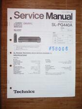 Service Manual Technics SL-PG440A CD-Player,ORIGINAL