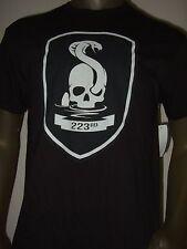 New Men's Mafia 3 III 223rd Skull Snake Cobra Game Graphic Black Tee Shirt