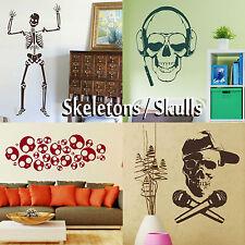 Esqueleto Pegatinas De Pared Decoración calcomanías gráfico de cráneo! de Transferencia Adhesivo Arte Stencils