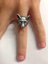 FOX Head r160 Peltro Inglese Anello regolabile fatto a mano in Sheffield