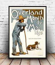 OVERLAND mensile maggio 1895: vecchia rivista poster riproduzione