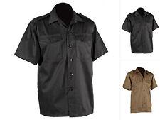 NEU Herren Hemd Herrenhemd Freizeithemd US Army Kurzarm Schwarz Khaki S-XXL
