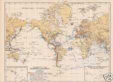 Erdbeben Seebeben Seismologie Vulkane KARTE von 1905