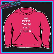 Keep Calm Ich bin Student Erwachsene Damen Hoodie Hoody Geschenk