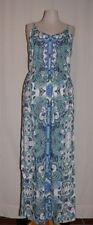 TAMARIS Strap Maxi Dress Summer dress Viscose allover print pailletten NEW