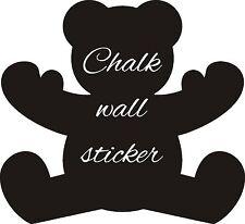 TEDDY BEAR SHAPE CHALK BOARD STICKER WALL ART CHILDRENS GIRLS BOYS DIY CHRISTMAS