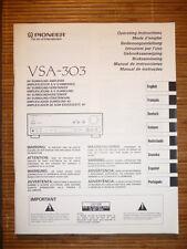 Bedienungsanleitung/Instructions für Pioneer VSP-303,ORIGINAL