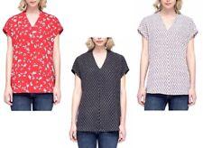 Pleione Ladies' Short Sleeve V-Neck Blouse