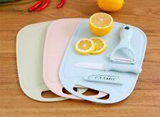 Set of 3 ceramic chopping board set shredder knife fruit peeler non slip