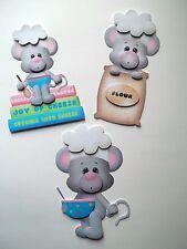 3D-U Pick - CB5 Cooking Baking Mice Puppy Bunny Dog Scrapbook Card Embellishment
