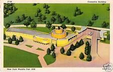 Postcard New York Worlds Fair 1939 Cosmetics Bldg Linen NrMINT