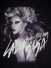 2011-Lady Ga Ga Born This Way-Concert Band-Monster Ball Tour-Shirt-S