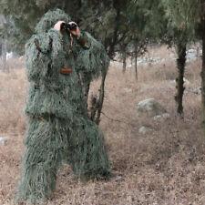 3D Camo Woodland Ghillie Suit Sniper Camouflage Forest Hunting 5PCS/SET + Bag