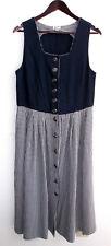 Damen Trachten Kleid ärmellos blau, Rock kariert Gr. 40 v. Distler