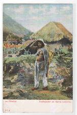 Trabajador en Tierra Caliente Mexico 1905c postcard