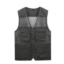 Men Quick Dry Multi Pocket Mesh Waistcoat Fishing Photography Hiking Travel Vest