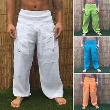 Harem Yoga Pantalones Pantalones Liso Boho Festival Hippy Hippie Bombachos Bohemio