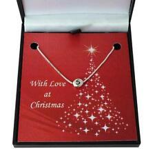 Collar de Letras en caja de regalo de Navidad. varios largos para mujeres y niñas