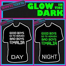 MALIA LADS divertente addio al celibato party club per vacanza fluorescenti al buio Maglietta Stampata