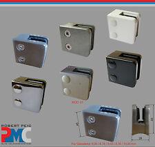 supporto in vetro Morsetto di ACCIAIO INOX V2A zinco nero argento bianco mod :0