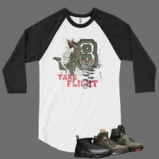 T Shirt to Match Air Jordan 8 Sneaker Pro Club Graphic Baseball Tee White Black