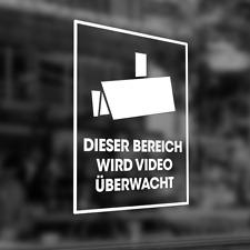 ***Aufkleber Folie Videoüberwachung Groß Farbwahl Sicherheit Objektschutz***