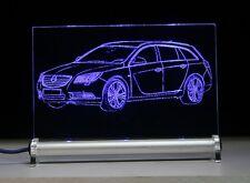 LED Leuchtschild graviert ist Opel Insignia Sports Tourer   AutoGravur