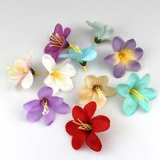 DIY 10/100X Artificial Fake Lily Silk Flower Head Wedding Party Home Garden Deco