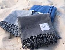 OZoola Stonewash Turkish Towel,  Beach Towel, 100% Turkish Cotton