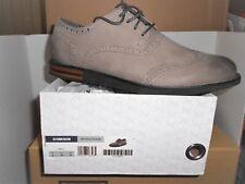 New AETREX DALTON Men's Grey  Leather Wingtip Oxford Shoes US Sz 9